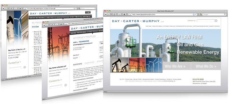 Law firm web design, development, seo and content management for Day Carter Murphy