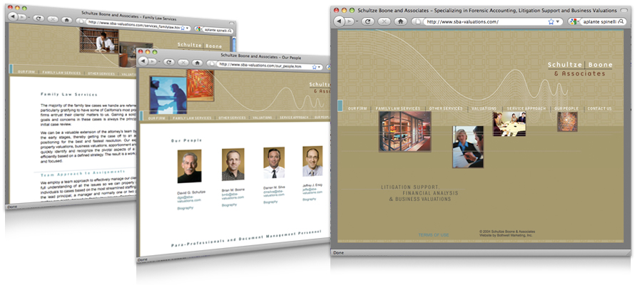 Law firm web design, development, seo and content management for Schultze Boone & Associates