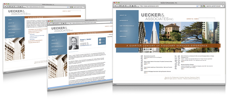 Law firm web design, development, seo and content management for Uecker & Associates, Inc.